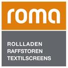 Logo Roma, Rollladen, Raffstoren, Textilscreens