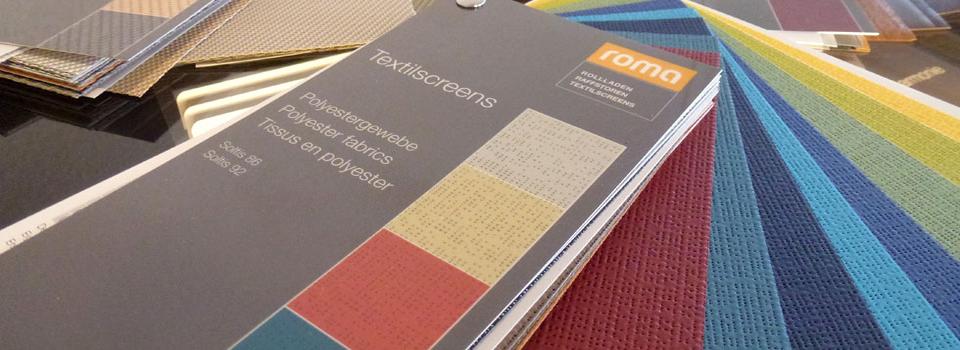 Roma Farbfächer für Textilscreens