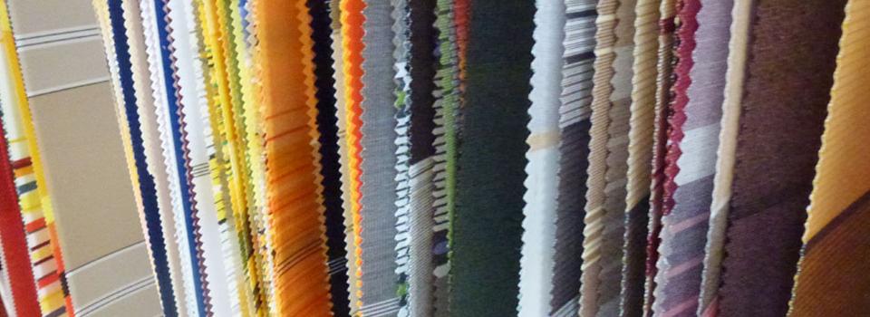 Unsere umfangreiche Stoffpalette für Markisen
