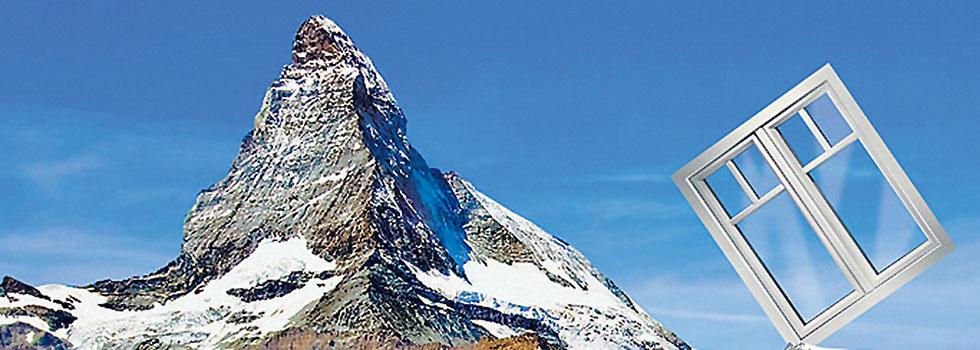 Fenster von Gayko - Abbildung Berg Anzeigenmotiv von Gayko