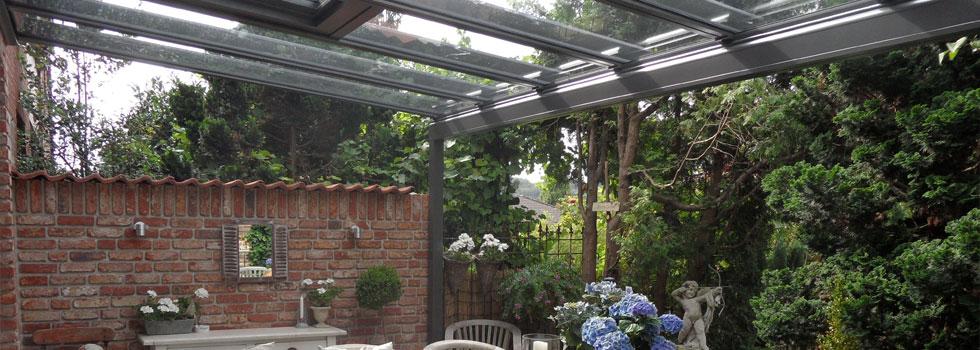 Terrassendach mit Stahlkonstruktion
