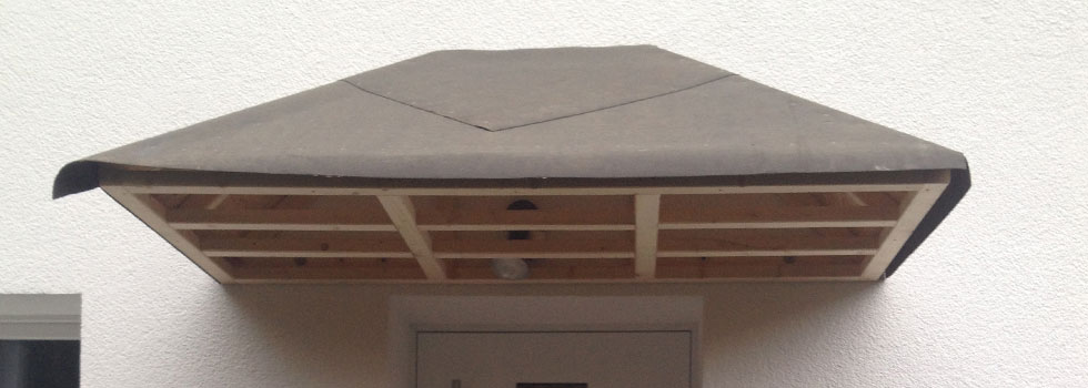 Bau eines Vordaches