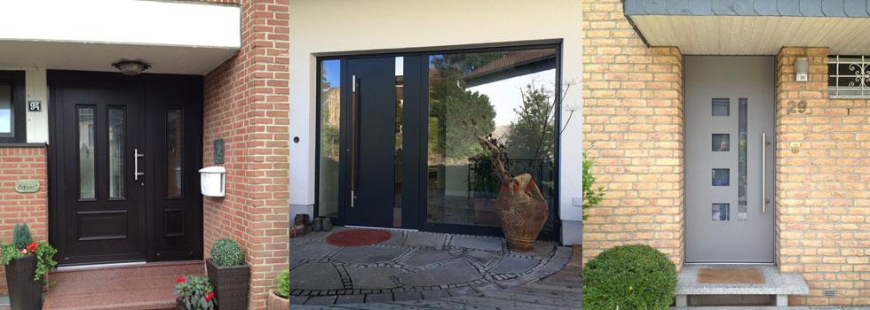 Referenzbild Haustüren, in der Farbe Anthrazit, klassisch und modern