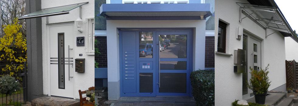 Referenzbilder Haustüren, blaue und weiße Haustüre