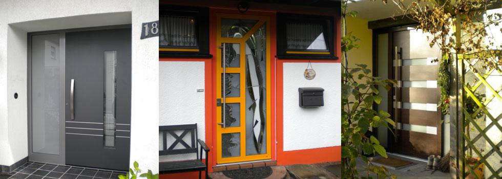 Referenzbilder Haustüren in gelb und antrazit
